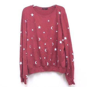 WILDFOX Essential Moon & Stars Pullover Sweater